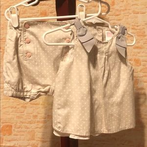 Janie and Jack Set Taupe Micro Corduroy 6-12 Month